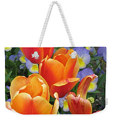 Weekender Tote Bag featuring the photograph The Secret Life Of Tulips - 2 by Rory Sagner