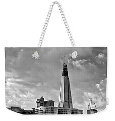 The Shard London Black And White Weekender Tote Bag