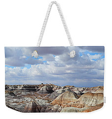Weekender Tote Bag featuring the photograph The Sky Clears By Blue Mesa by Lynda Lehmann