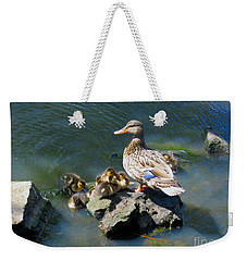 The Swimming Lesson Weekender Tote Bag by Rory Sagner