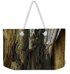 The Tack Room Wall Weekender Tote Bag by Lynn Palmer