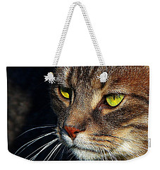 Weekender Tote Bag featuring the photograph The Watcher by Davandra Cribbie