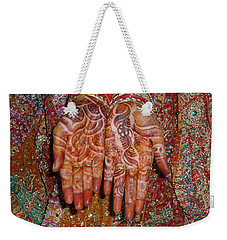 The Wonderfully Decorated Hands And Clothes Of An Indian Bride Weekender Tote Bag