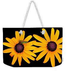 Weekender Tote Bag featuring the photograph The Yellow Rudbeckia by Davandra Cribbie