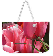 Weekender Tote Bag featuring the photograph There Is Pink In Heaven by Rory Sagner