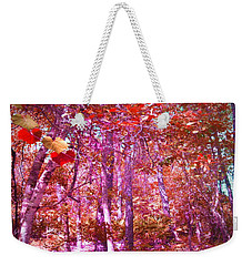 Weekender Tote Bag featuring the photograph Thicket In Color by George Pedro