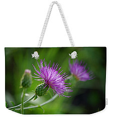 Weekender Tote Bag featuring the photograph Thistle Dance by Vicki Pelham