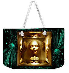 Thoughts Mirror Box Weekender Tote Bag by Rosa Cobos