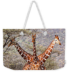 Three Headed Giraffe Weekender Tote Bag