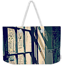 Weekender Tote Bag featuring the photograph View Through The Window - Painterly Effect by Marilyn Wilson