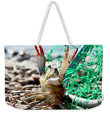 Crab Throw Me Something Mister Weekender Tote Bag by Luana K Perez