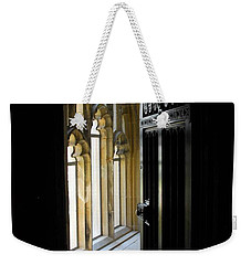 Weekender Tote Bag featuring the photograph Thru The Chapel Door by Cindy Manero