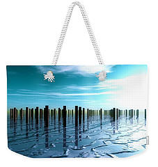 Weekender Tote Bag featuring the digital art Tide Is Out... by Tim Fillingim