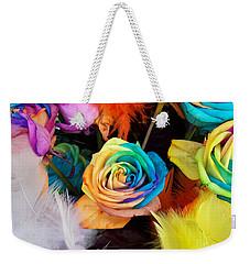 Tie Dyed Roses In Japan Weekender Tote Bag