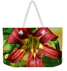 Weekender Tote Bag featuring the photograph Tiger Lily by Cindy Manero