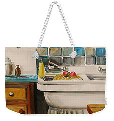 Tile And Porcelein Weekender Tote Bag by John Williams