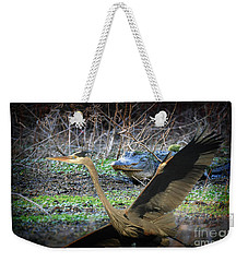 Weekender Tote Bag featuring the photograph Time To Leave by Dan Friend