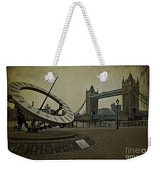 Weekender Tote Bag featuring the photograph Timepiece. by Clare Bambers