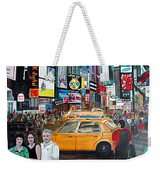 Times Square Weekender Tote Bag by Anna Ruzsan