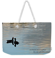 Weekender Tote Bag featuring the photograph Together by Steven Sparks
