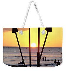 Torched Sunset Weekender Tote Bag