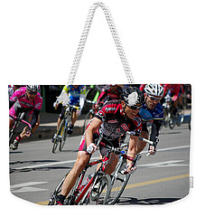 Weekender Tote Bag featuring the photograph Tour Of The Gila - Criterium  by Vicki Pelham