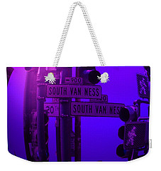 Weekender Tote Bag featuring the photograph Traffic Stop by George Pedro