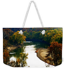 Weekender Tote Bag featuring the photograph Tranquil View by Peggy Franz