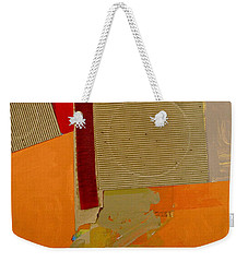 Weekender Tote Bag featuring the painting Transition 4 Red Crepe by Cliff Spohn