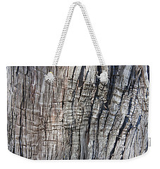 Weekender Tote Bag featuring the photograph Tree Bark No. 1 Stress Lines by Lynn Palmer