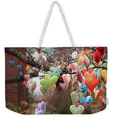 Tree Hearts Weekender Tote Bag