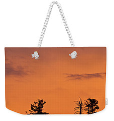 Trees At Sunset Weekender Tote Bag