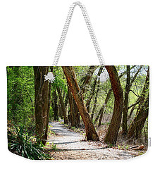 Weekender Tote Bag featuring the photograph Trestle Walk by Kathryn Meyer