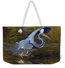 Tri-color Heron Dance Weekender Tote Bag