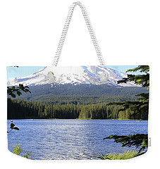 Weekender Tote Bag featuring the photograph Trillium Lake At Mt. Hood by Athena Mckinzie