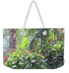Weekender Tote Bag featuring the photograph Tropical Paradise by Donna  Smith