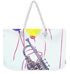 Trumpet Lifted By Balloons Weekender Tote Bag