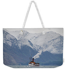 Tss Earnslaw Steamboat Against The Southern Alps Weekender Tote Bag