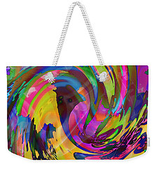 Weekender Tote Bag featuring the mixed media Tsunami by Kevin Caudill