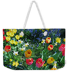 Weekender Tote Bag featuring the photograph Tulips Dancing by Rory Sagner