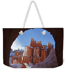 Weekender Tote Bag featuring the photograph Tunnel In The Rock by Susan Rovira