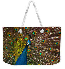 Turquoise And Gold Wonder Weekender Tote Bag
