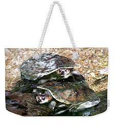 Turtle Two Turtle Love Weekender Tote Bag