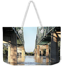 Weekender Tote Bag featuring the photograph Twin Bridges by Elizabeth Winter