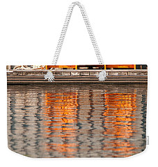 Weekender Tote Bag featuring the photograph Two Wooden Chairs by Les Palenik