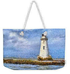 Tybee Island Lighthouse Weekender Tote Bag by Lynne Jenkins