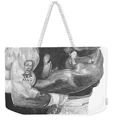 Tyson Vs Holyfield Weekender Tote Bag by Tamir Barkan