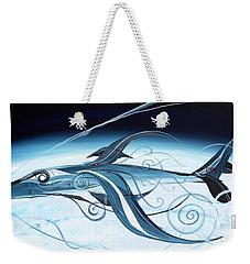 U2 Spyfish - Spy Plane As Abstract Fish - Weekender Tote Bag by J Vincent Scarpace