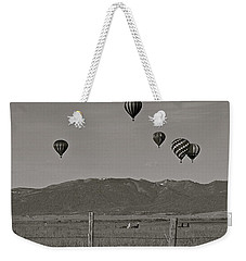 Weekender Tote Bag featuring the photograph Unconcerned Lamas by Eric Tressler
