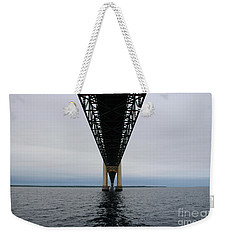 Under The Mackinac Bridge Weekender Tote Bag